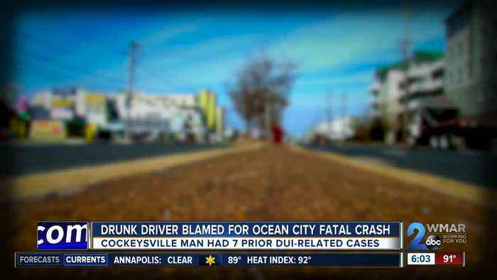 Drunk driver blamed for Ocean City fatal crash