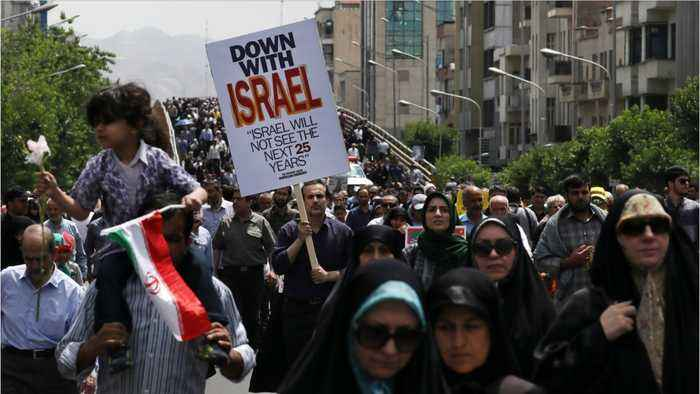 Palestinian Refugees Protest U.S. Middle East Peace Plan