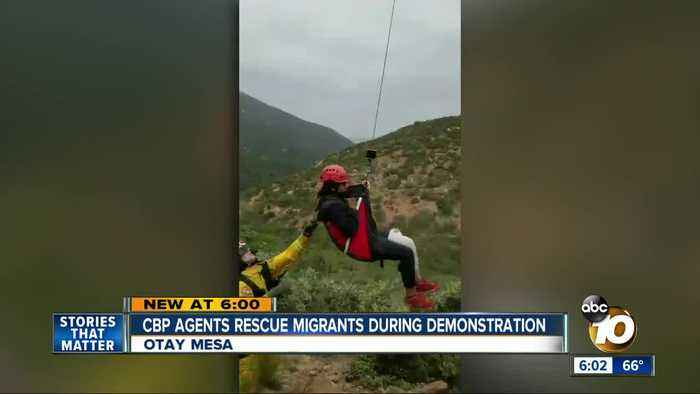 CBP agents rescue migrants during Otay Mesa demonstration