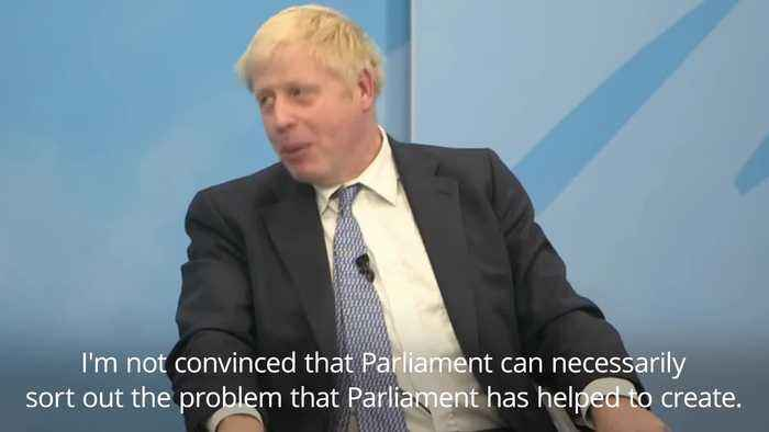 Johnson refuses to rule out suspending Parliament to force through Brexit