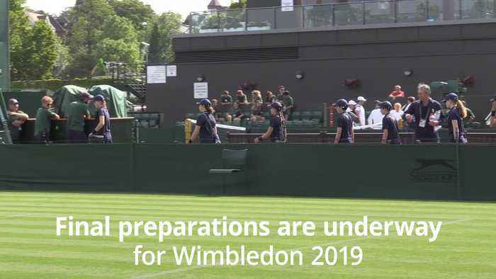 Wimbledon 2019 ballboys and girls embark on final training