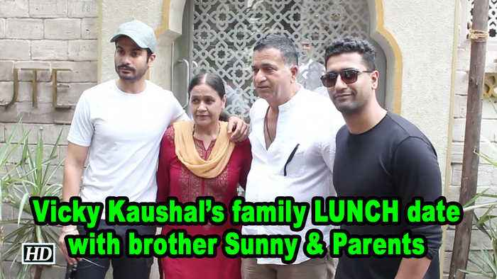 Vicky Kaushal's family LUNCH date with brother Sunny & Parents