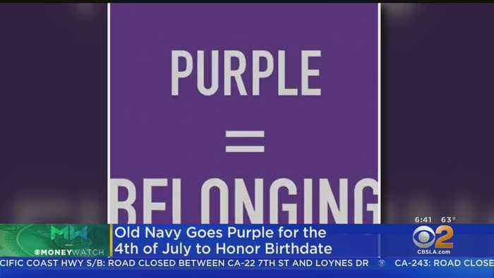 Old Navy Goes Purple For Fourth Of July