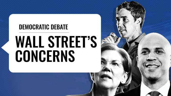 Democratic Candidates Takes Aim at Wall Street