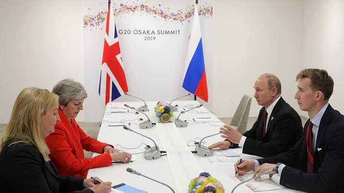 British PM May confronts Putin over Skripal poisoning in tense G20 meeting