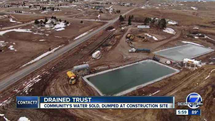 Castle Pines residents irked after 7M gallons of aquifer water pumped, shipped to Elbert County