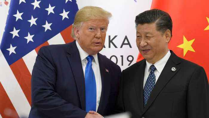 Trump says trade talks with China 'back on track'