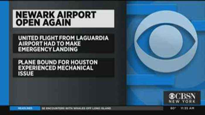 Newark Airport Reopens After United Flight's Emergency Landing