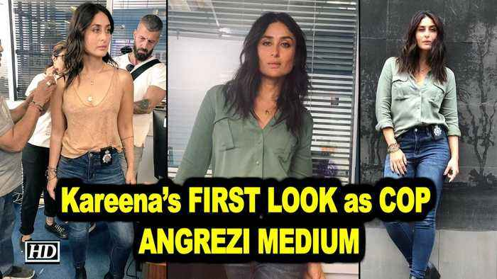 Kareena's FIRST LOOK as COP Naina | ANGREZI MEDIUM