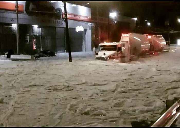 Ice Covers Guadalajara Streets After Severe Hail Storm