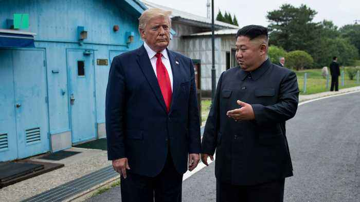 President Donald Trump Meets Kim Jong Un In North Korea