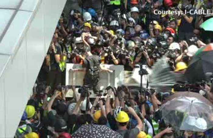 Hong Kong protesters occupy parliament chamber