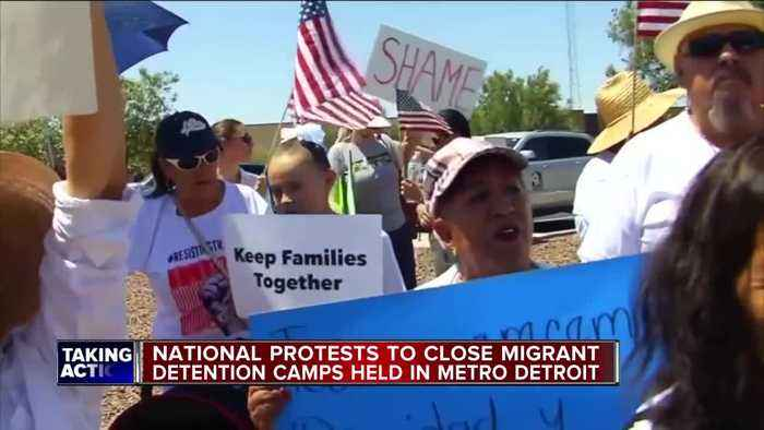 Protests to close migrant detention camps held in metro Detroit