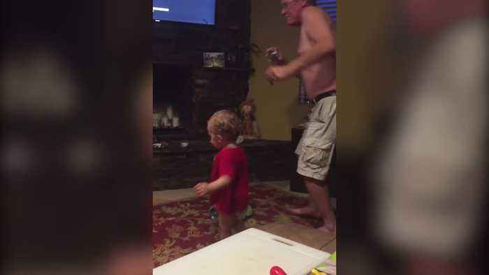 Little Boy only Dances when He has the Spotlight