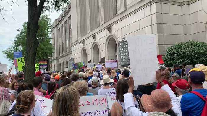 Protesters Gather Outside Philadelphia Senator's Office as Part of Nationwide #CloseTheCamps Rallies