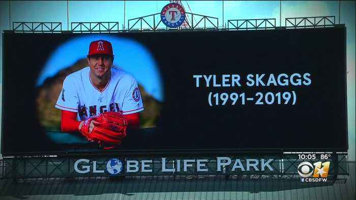 Rangers Pay Tribute To Angels Pitcher Tyler Skaggs Who Died Monday