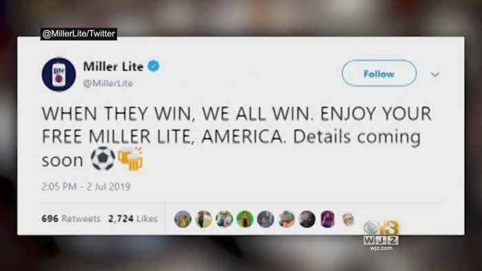 Free Beer! MillerCoors Pledges To Give Away 100,000 Free Miller Lites After US Beats England In World Cup Semifinals