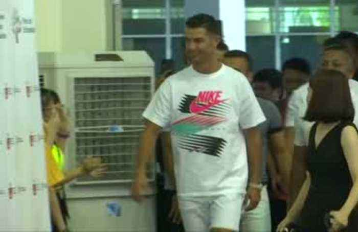 Cristiano Ronaldo visits school in support of Singapore Olympic Foundation