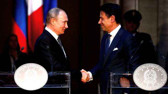 Putin to meet with Italian president and PM