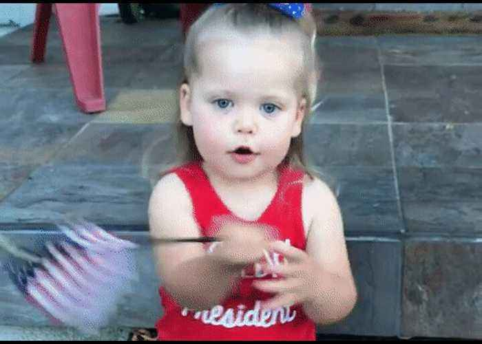 Two-Year-Old Gives an Adorable Rendition of the National Anthem
