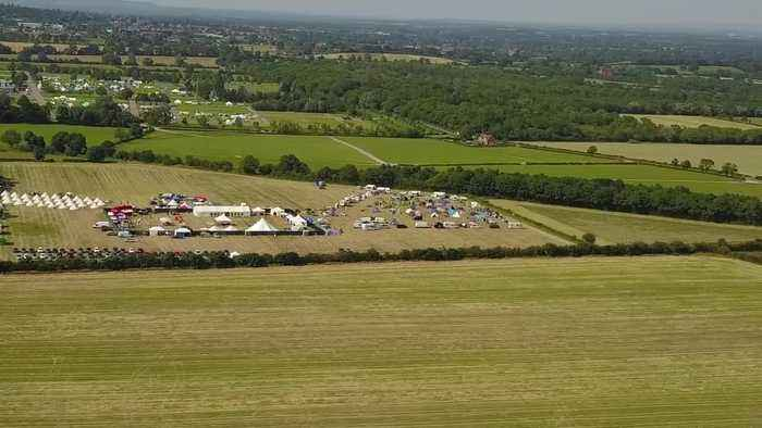 Drone footage of Europe's biggest sex festival