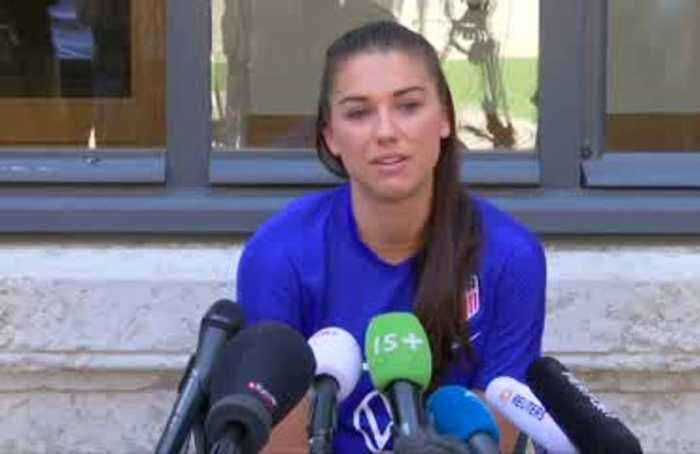 Play first and deal with Trump question afterwards - USA's Alex Morgan