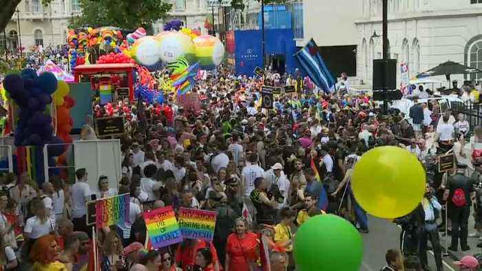 Watch live: Thousands take to London streets as Pride Parade kicks off