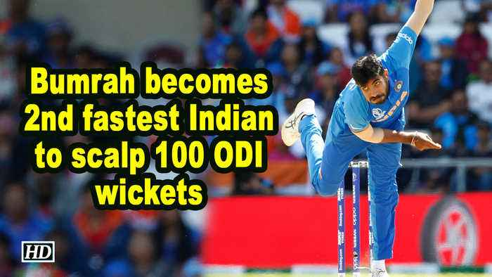 Bumrah becomes 2nd fastest Indian to scalp 100 ODI wickets