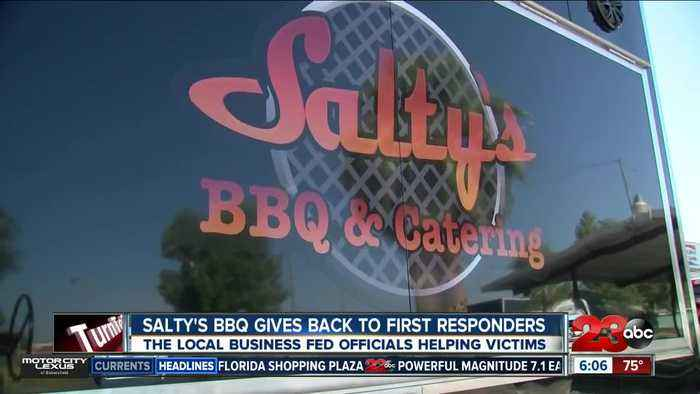 Salty's BBQ and Catering feeds first responders