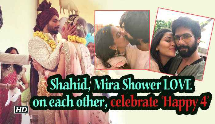 Shahid, Mira Showers LOVE on each other, celebrates 'Happy 4'