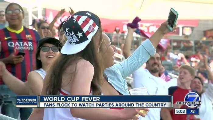Hundreds show up in force at Dick's Sporting Goods Park to watch the Women's World Cup Championship