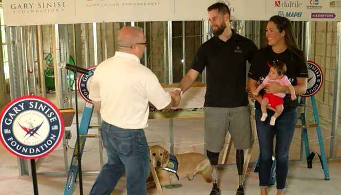 Soldier hurt in line of duty gets specially-adapted smart home