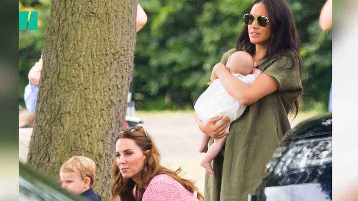 Royal Babies Support Dads William And Harry At The Polo