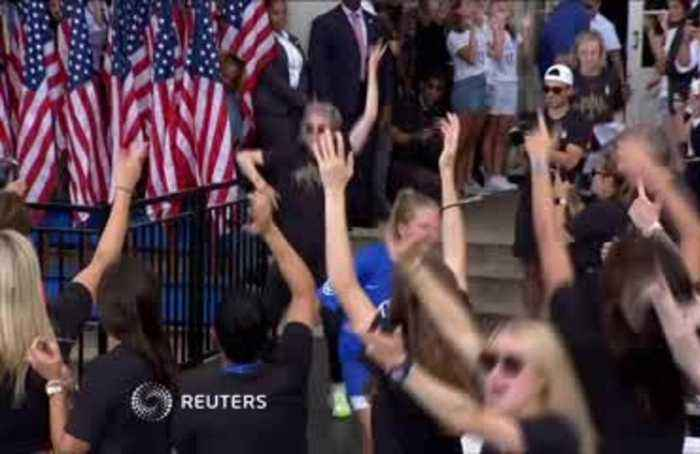 World Cup champ Rapinoe: 'Love more, hate less'