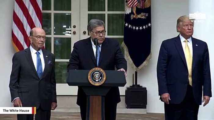 Watch Barr Congratulate Trump On Citizenship Effort
