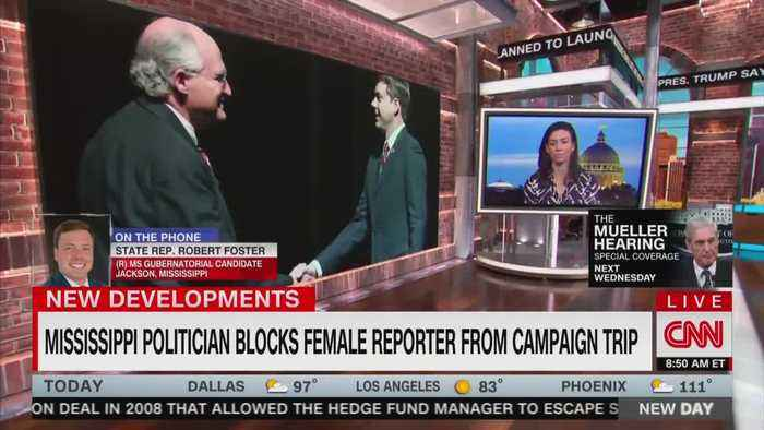 Gubernatorial candidate questioned on why he banned female reporter