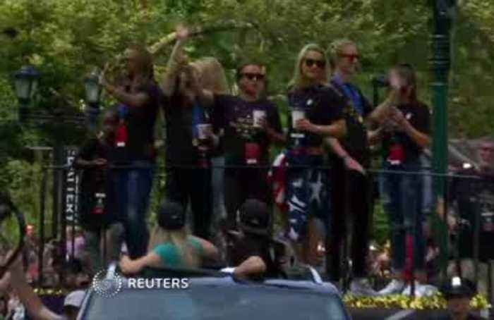 Women's World Cup champs celebrate in NYC