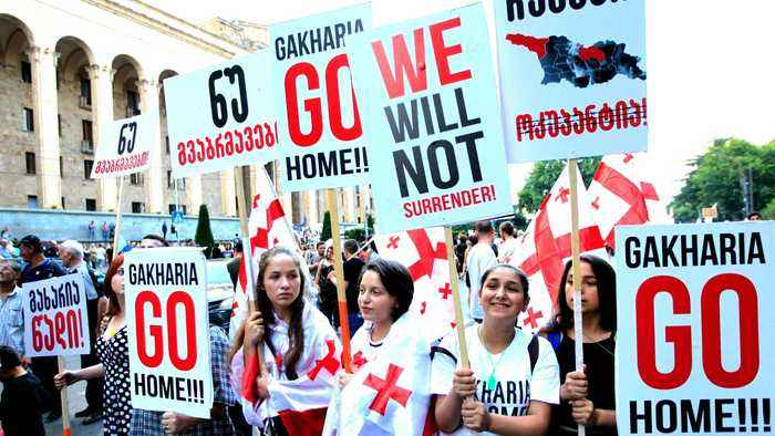 Protesters in Georgia call for end to 'pro-Russian policies'