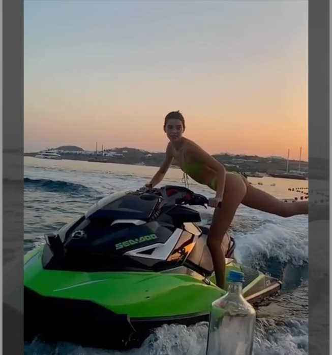 Kendall Jenner does 'Bottle Cap Challenge' while Jet Skiing