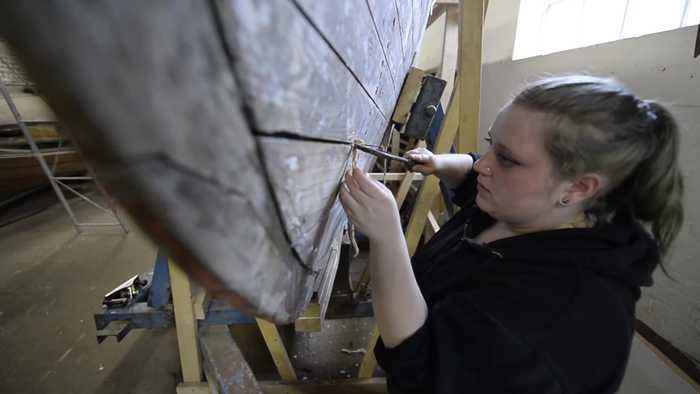 Woman is 1st modern apprentice for boat building