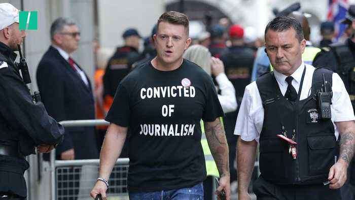 Tommy Robinson Jailed For 9 Months For Contempt Of Court