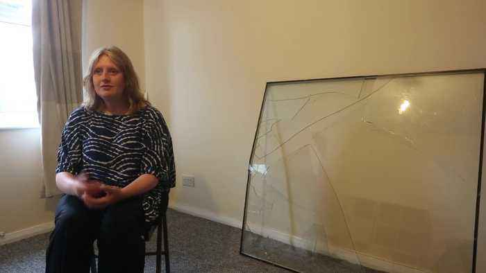 Mum claims 'The Voice' smashed her window