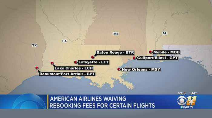 American Airlines Offers Free Rebooking To Several Airports Due To Tropical Storm Barry