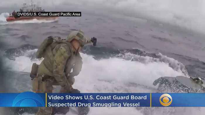 Video: U.S. Coast Guard Boards Suspected Drug Smuggling Vessel