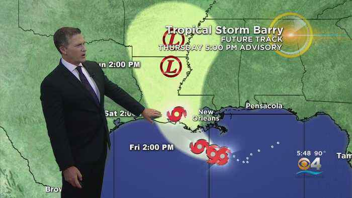 Tropical Storm Barry Nears Louisiana Coast Bringing Heavy Rain