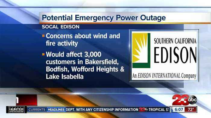 Southern California Edison warns of potential emergency power outages
