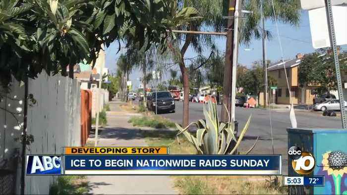 Nationwide ICE raids to begin Sunday