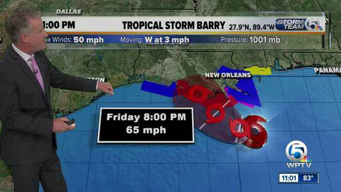 Tropical Storm Barry forms in Gulf of Mexico, expected to strengthen into hurricane this weekend