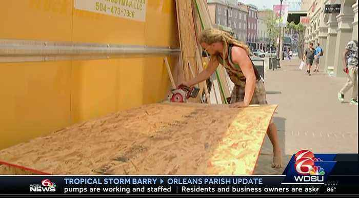 BARRY: French Quarter in NOLA braces for tropical storm, possible hurricane