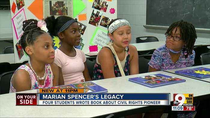Fifth-graders who wrote book about Marian Spencer remember her in death